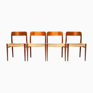 Mid-Century Stühle von Niels Möller für J.L. Møllers, 4er Set