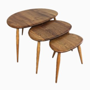 Vintage Pebble Nesting Tables by Lucian Ercolani for Ercol