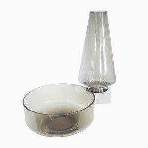 Stromboli Vase & Bowl from Lasi Oy Riihimaen, 1970s
