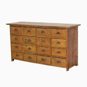 Haberdashery Pine Bank of Drawers, 1880s