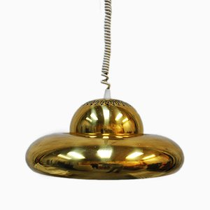 Model Fior di Loto Brass Pendant by Tobia Scarpa for Flos, 1960s
