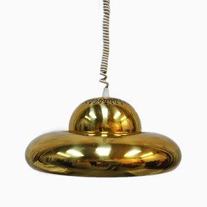 Model Fior di Loto Brass Pendant by Tobia Scarpa for Flos, 1960s