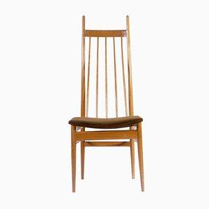 Dänischer Sessel mit hoher Rückenlehne, 1950er