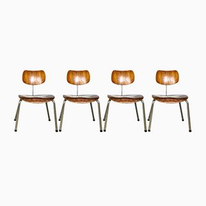 SE68 Plywood Dining Chairs by Egon Eiermann for Wilde+Spieth, 1950s, Set of 4