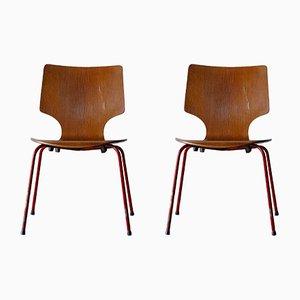 Dänische Mid-Century Stühle, 2er Set