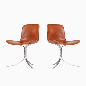 PK-9 Chairs by Poul Kjaerholm for E. Kold Christensen, 1960s, Set of 2
