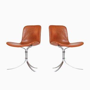 PK-9 Stühle von Poul Kjaerholm für E. Kold Christensen, 1960er, 2er Set