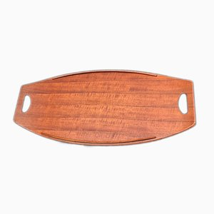 Large Teak Tray by Jens Quistgaard for Dansk, 1950s