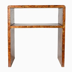Art Deco Italian Walnut Console Table
