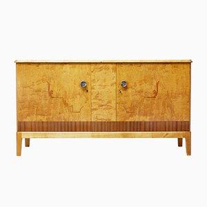 Finnish Inlaid Birch Cabinet, 1950s