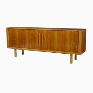 Swedish Teak Tambour Sideboard from Atvidabergs, 1950s
