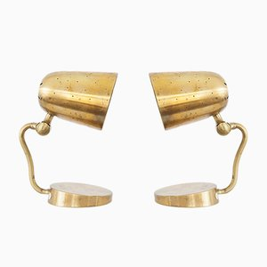 Brass Table/Wall Lamps from Boréns, 1950s, Set of 2