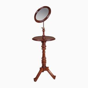 Antiker Rasierständer aus Mahagoni mit ausziehbarem Spiegel
