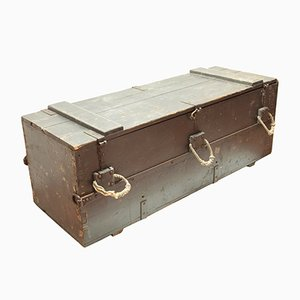 Large Antique Italian Navy Military Trunk