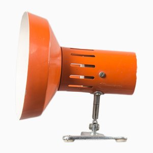 French Flexible Lamp with Orange Clamp, 1970s