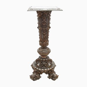 Vintage Column with Embossed Metal