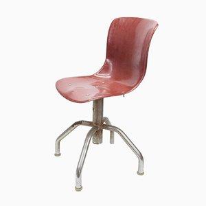 Chaise de Bureau Vintage en Plastique et Métal, Italie