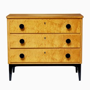 Small Swedish Birch Chest of Drawers, 1960s