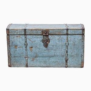 Antique Swedish Painted Domed Trunk