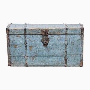 Gewölbter und lackierter antiker schwedischer Reisekoffer