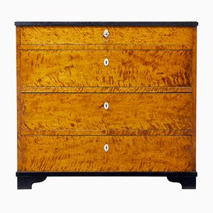 Antique Swedish Birch Chest of Drawers