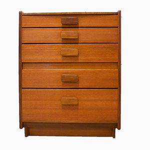 Mid-Century Teak Tallboy Chest of Drawers from White & Newton