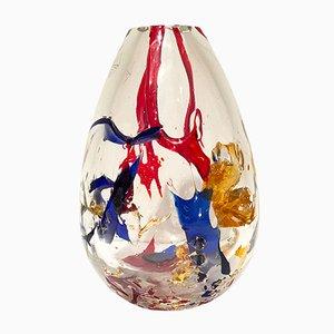 Vaso Dripping di Ugo Nespolo per Barovier & Toso, anni '80