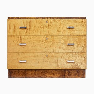 Vintage Art Deco Birch Chest of Drawers