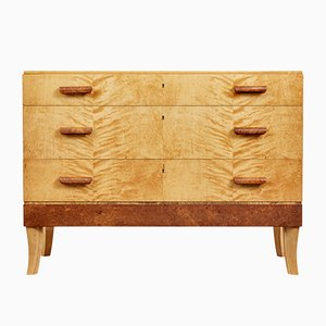 Mid-Century Scandinavian Burr & Birch Chest of Drawers