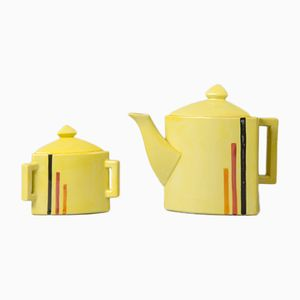 Mid-Century French Teapot and Sugar Bowl, 1950s