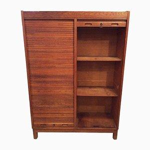 Oak Tambour Filing Cabinet, 1950s