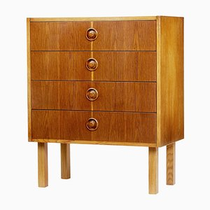 Small Oak and Teak Chest of Drawers, 1960s