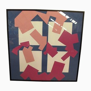 Serigrafía Completamento Amodale de Manfredo Massironi para Baleri, 1993