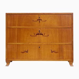 Art Deco Inlaid Elm Chest of Drawers