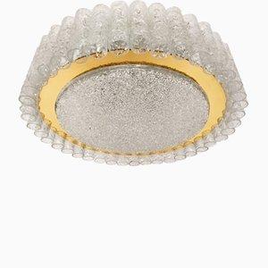 Lámpara de techo grande de cristal de Doria, años 60