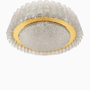 Large Crystal Glass Ceiling Lamp from Doria, 1960s