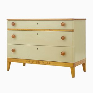 Painted Elm Chest of Drawers, 1960s