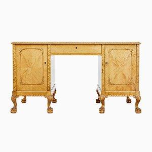 Antiker schwedischer Schreibtisch aus Birke & Pinienholz