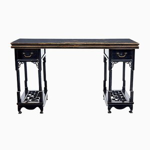 19th Century Chinese Black Lacquered Wood Table