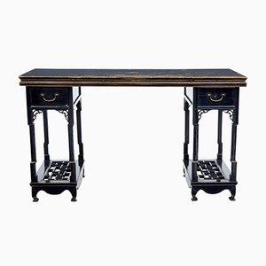 Mesa china de madera lacada en negro, siglo XIX