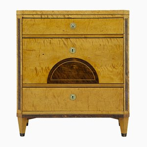 Antique Inlaid Swedish Birch Chest of Drawers