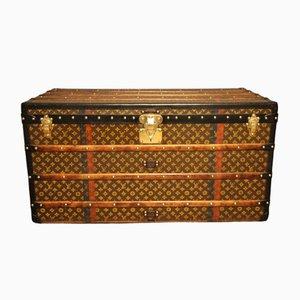 Vintage Truhe in monogrammiertem Leinen von Louis Vuitton