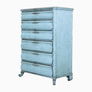 Antique Swedish Painted Tall Chest of Drawers