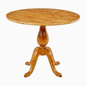 Art Deco Swedish Birch Occasional Table