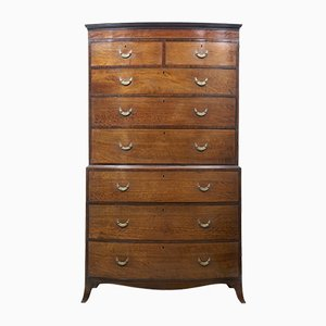 19th Century Bowfront Mahogany Chest