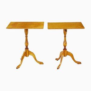 Tables d'Appoint en Bouleau, 1960s, Set de 2
