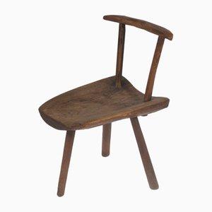 Deutscher Stuhl aus Eiche aus 19. Jh.