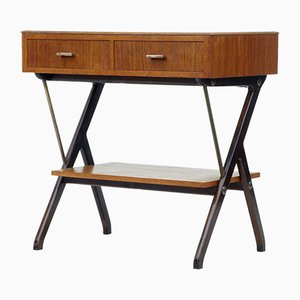 Scandinavian Modern Teak Console Table, 1960s