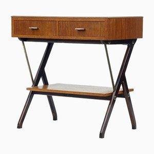 Table Console Moderne Scandinave en Teck, 1960s