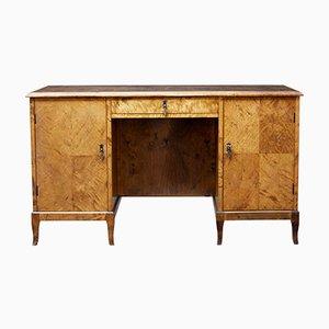 Freistehender skandinavischer Mid-Century Schreibtisch aus Birke